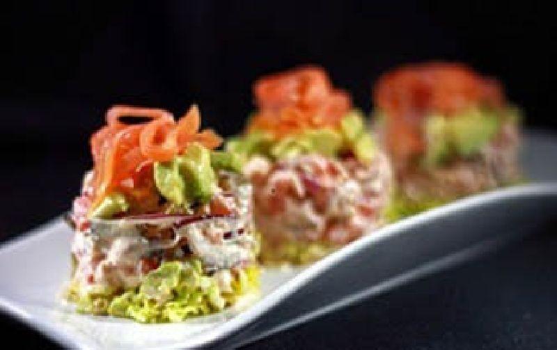 Ensalada de salmón, atún MARISCADORA y verduras