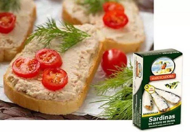 paté de sardinas en aceite de oliva MARISCADORA
