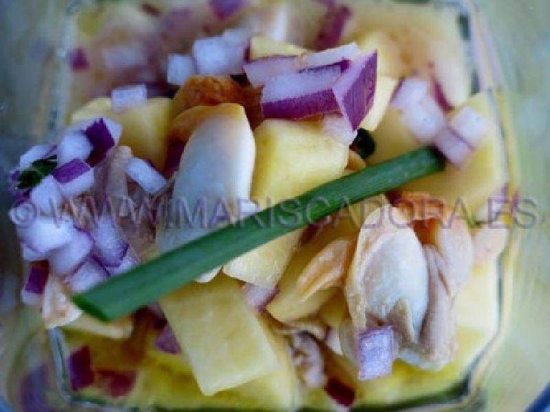 Cocktail de berberechos MARISCADORA con mango
